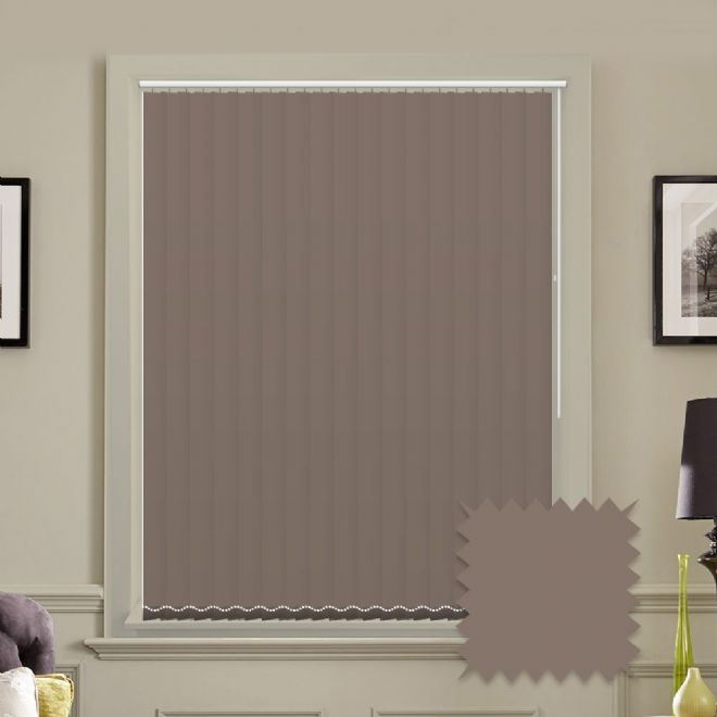 Unicolour Chocolate 5 inch Vertical Blinds - made to measure - Just Blinds